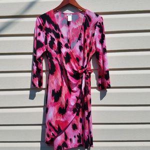Cache Mock Wrap Tie Dress Size XL